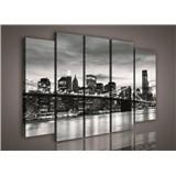 Obraz na plátně Brooklyn Bridge 150 x 100 cm