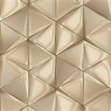Vliesové tapety na zeď IMPOL Onyx 3D hexagony šedo-stříbrné