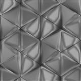 Vliesové tapety na zeď IMPOL Onyx 3D hexagony hnědé