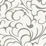 Vliesové tapety na zeď Opulence abstraktní vzor šedo-bílý