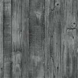 Vliesové tapety na zeď Origin - dřevěné prkna černo-šedé