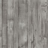 Vliesové tapety na zeď Origin - dřevěné prkna hnědo-šedé