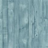 Vliesové tapety na zeď Origin - dřevěné prkna zeleno-modré