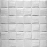 Samolepící pěnové 3D panely rozměr 700 x 690 mm, 3D šachovnice bílá