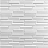 Samolepící pěnové 3D panely rozměr 70 x 77 cm, 3D moderní cihla bílá
