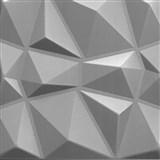 3D panel XPS DIAMANT stříbrný rozměr 50 x 50 cm