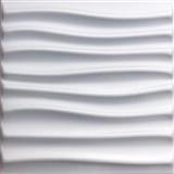 3D panel XPS STREAM bílý rozměr 50 x 50 cm