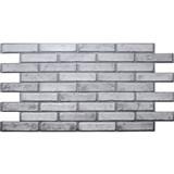 Obkladové 3D PVC panely rozměr 971 x 498 mm cihla světlá