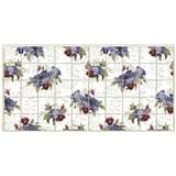 Obkladové 3D PVC panely rozměr 964 x 484 mm květy venkovské