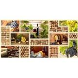 Obkladové 3D PVC panely rozměr 980 x 480 mm víno