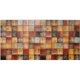 Obkladové 3D PVC panely rozměr 955 x 480 mm dřevěný trám mořený
