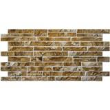 Obkladové 3D PVC panely rozměr 1025 x 495 mm ukládaný horský kámen