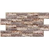 Obkladové 3D PVC panely rozměr 955 x 476 mm obkladový kámen tmavý