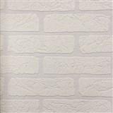 Vliesové tapety na zeď Wallton přetíratelná cihla bílá