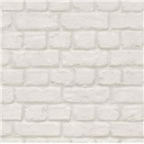 Papírové tapety na zeď cihla bílá
