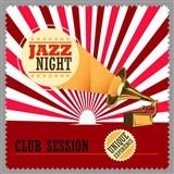 Retro cedule Jazz Night 30 x 30 cm