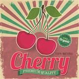 Retro cedule Cherry 30 x 30 cm