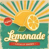 Retro cedule Lemonade 30 x 30 cm