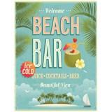 Retro cedule Beach Bar 40 x 30cm - POSLEDNÍ KUSY