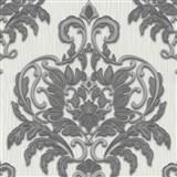 Vliesové tapety na zeď Spotlight - zámecký vzor šedo-stříbrný