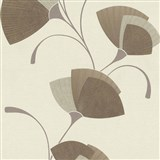 Vliesové tapety na zeď Spotlight - listy světle hnědé - POSLEDNÍ KUSY