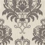 Vliesové tapety na zeď IMPOL Spotlight 3 zámecký vzor šedo-stříbrný