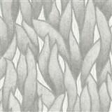Vliesové tapety na zeď IMPOL Spotlight 3 popínavé listy šedo-stříbrné na šedém podkladu