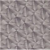 Vliesové tapety na zeď IMPOL Spotlight 3 jehlany 3D tmavě šedé s metalickými odlesky