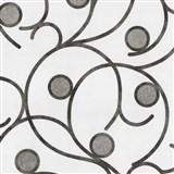 Vliesové tapety na zeď Studio Line - Magic Circles - hnědo-šedé na bílém podkladu
