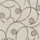 Vliesové tapety na zeď Studio Line - Magic Circles - hnědé na světle hnědém podkladu