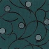 Vliesové tapety na zeď Studio Line - Magic Circles - černé na zeleném podkladu