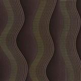 Vliesové tapety na zeď Studio Line - Graceful vlnovky zlato-hnědé