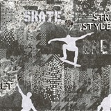 Vliesové tapety na zeď IMPOL Sweet and Cool skate - street style šedo-černý