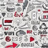 Vliesové tapety na zeď IMPOL Sweet and Cool Hashtag červeno-šedé
