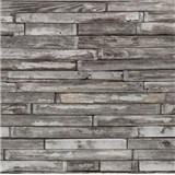 Papírové tapety na zeď - dřevěný klinker hnědo-šedý
