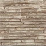 Papírové tapety na zeď - dřevěný klinker světle hnědý