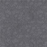 Vliesové tapety na zeď IMPOL Timeless ornamenty černé se stříbrnými třpytkami na černém podkladu