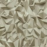 Vliesové tapety na zeď Times - 3D hrany hnědé