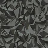 Vliesové tapety na zeď Times - 3D hrany šedo-černé