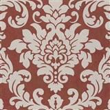 Vliesové tapety na zeď Trendwall barokní vzor zlatý na terakotovém podkladu
