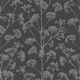 Vliesové tapety na zeď Trésor florální vzor černý