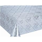 Ubrusy návin 20 m x 137 cm stříbrné ornamenty