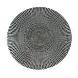 Vinylové dekorativní prostírání na stůl Ambiente stříbrné 38 cm