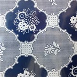 Ubrus metráž transparentní vzor lesklý