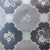 Ubrus metráž transparentní vzor matný