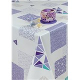 Ubrusy návin 20 m x 140 cm geometrický vzor fialový