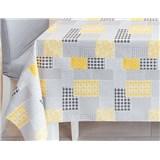 Ubrusy návin 20 m x 140 cm patchwork šedo-žlutý