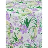 Ubrusy návin 20 m x 140 cm lilie fialové s textilní strukturou