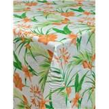 Ubrusy návin 20 m x 140 cm lilie oranžové s textilní strukturou