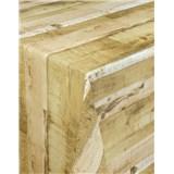 Ubrusy návin 20 m x 140 cm dřevěné desky hnědé s textilní strukturou